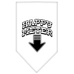 Happy Meter Screen Print Bandana White Small